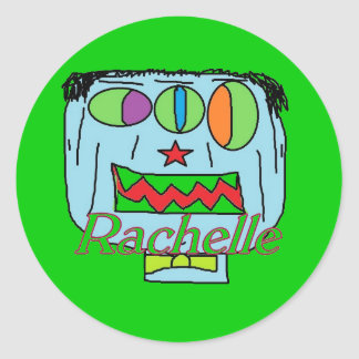 Pegatinas conocidos de Rachelle Pegatina Redonda