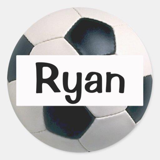 Pegatinas conocidos del balón de fútbol pegatina redonda