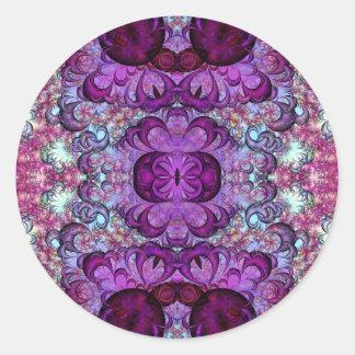 Pegatinas consiguientes de la variación 1 de pegatina redonda