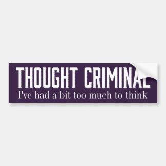 Pegatinas criminales pensados pegatina para auto