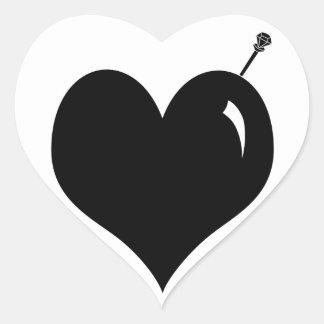 Pegatinas crueles del corazón del amor
