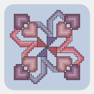Pegatinas cruzados del cuadrado del edredón de la pegatina cuadrada