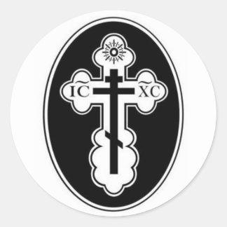 Pegatinas cruzados ortodoxos del St Olga