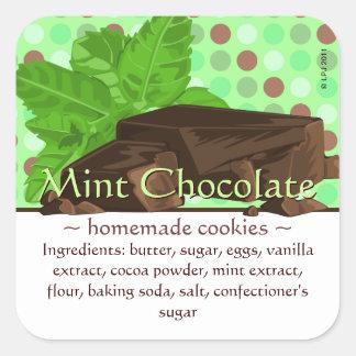 Pegatinas cuadrados adaptables del chocolate de la pegatina cuadrada