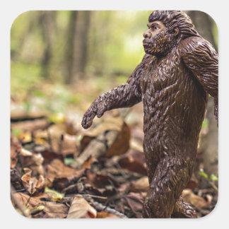Pegatinas cuadrados de Bigfoot el | Sasquatch Pegatina Cuadrada
