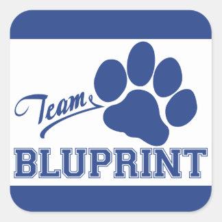 Pegatinas cuadrados de BluPrint del equipo Pegatina Cuadrada