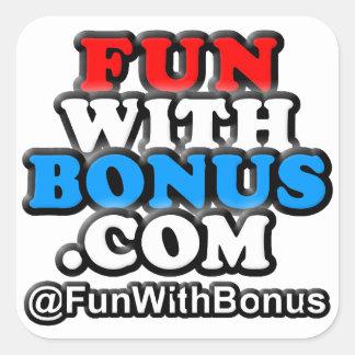 pegatinas cuadrados de FunWithBonus.com Pegatina Cuadradas Personalizada
