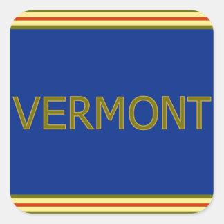 Pegatinas cuadrados de Vermont Pegatina Cuadrada