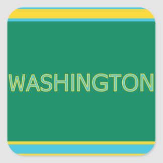 Pegatinas cuadrados de Washington Pegatina Cuadrada