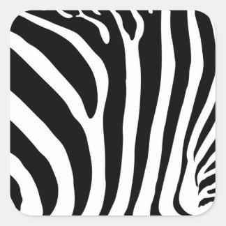 Pegatinas cuadrados del estampado de zebra pegatina cuadrada
