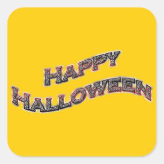 Pegatinas cuadrados del feliz Halloween Pegatina Cuadrada