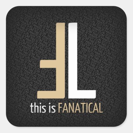 Pegatinas cuadrados del logotipo de TIF Pegatina Cuadrada