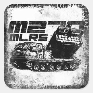 Pegatinas cuadrados del MLRS M270 Pegatina Cuadrada