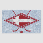 Pegatinas daneses del logotipo de la bandera del rectangular altavoz