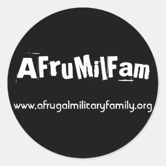 ¡Pegatinas de AFruMilFam! Pegatinas Redondas