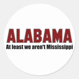 Pegatinas de Alabama Pegatinas Redondas
