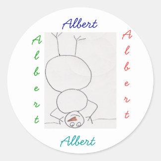 Pegatinas de Albert Etiquetas Redondas