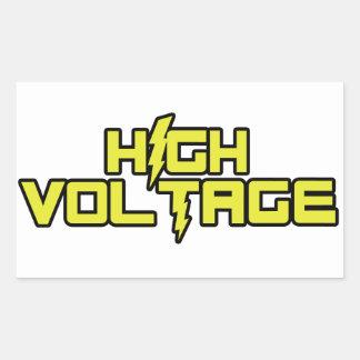 Pegatinas de alto voltaje rectangular altavoz