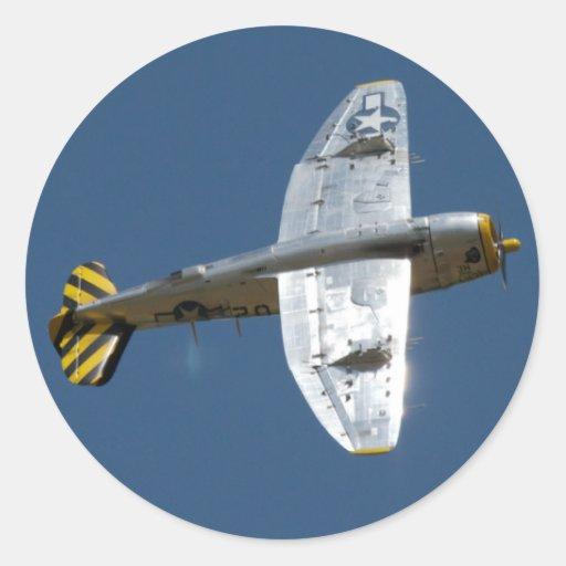 Pegatinas de aluminio del balanceo P-47 Etiqueta Redonda