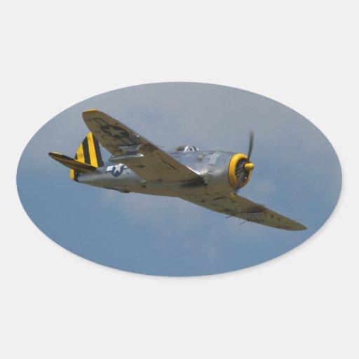 Pegatinas de aluminio del rayo P-47 Colcomanias Ovaladas