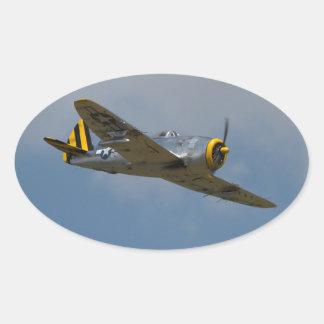 Pegatinas de aluminio del rayo P-47 Pegatina Ovalada