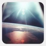 Pegatinas de Apolo 7 la Florida Calcomania Cuadradas