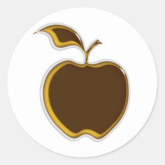 ¡Pegatinas de Apple de caramelo.! Etiqueta Redonda