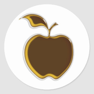 ¡Pegatinas de Apple de caramelo.! Pegatina Redonda