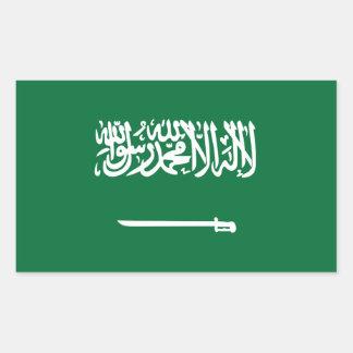 Pegatinas de Arabia Saudita de la bandera Pegatina Rectangular