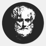 Pegatinas de Aristóteles Etiqueta Redonda