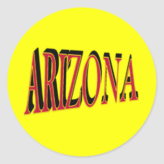 Pegatinas de Arizona Etiquetas Redondas