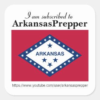 Pegatinas de ArkansasPrepper Pegatina Cuadrada