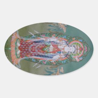 Pegatinas de Avalokiteshvara Pegatina Ovalada