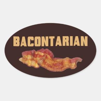 Pegatinas de Bacontarian Pegatinas Oval Personalizadas