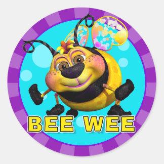 Pegatinas de BeeWee de la diversión Pegatina Redonda