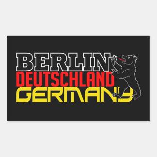 Pegatinas de Berlín Pegatina Rectangular