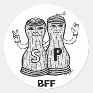 Pegatinas de BFF Pegatina Redonda