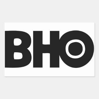 Pegatinas de BHO Pegatina Rectangular