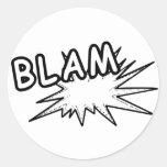 Pegatinas de Blam Etiqueta Redonda
