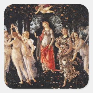 Pegatinas de Botticelli Primavera Pegatina Cuadrada