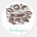 Pegatinas de Boulangerie Etiquetas Redondas