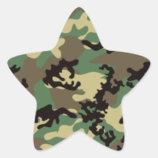 Pegatinas de Camo del arbolado Pegatina En Forma De Estrella