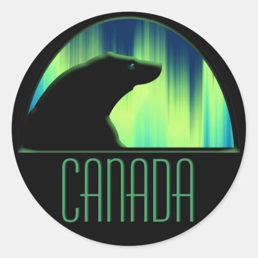 Pegatinas de Canadá de la fauna de los pegatinas Pegatinas Redondas