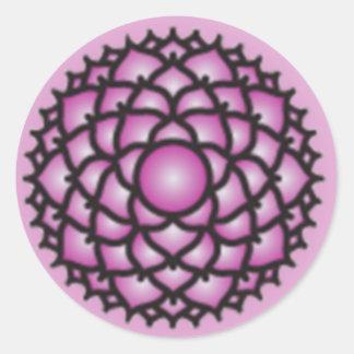 Pegatinas de Chakra de la corona Etiqueta Redonda