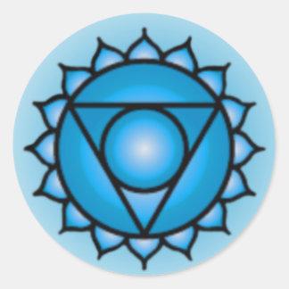 Pegatinas de Chakra de la garganta Pegatinas Redondas