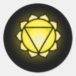 Pegatinas de Chakra del plexo solar Pegatinas Redondas