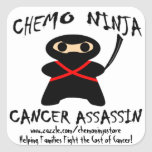 ¡Pegatinas de Chemo Ninja! Pegatina Cuadrada