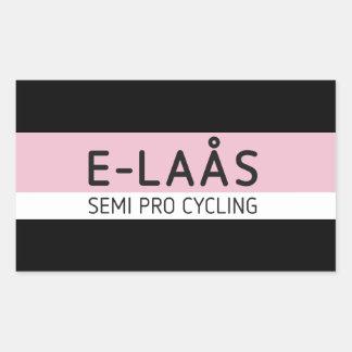Pegatinas de ciclo semi favorables de E-LAÅS Pegatina Rectangular