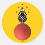 Pegatinas de Cirque de Martzkins Clown Etiquetas Redondas