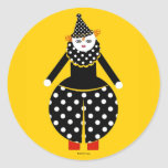 Pegatinas de Cirque de Martzkins Clown Etiqueta Redonda
